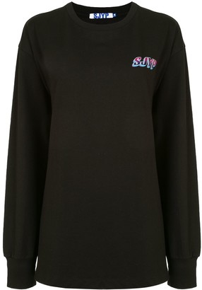 Sjyp Chest Logo Sweatshirt