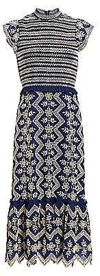 Sea Women's Zipper Smocked Midi Dress