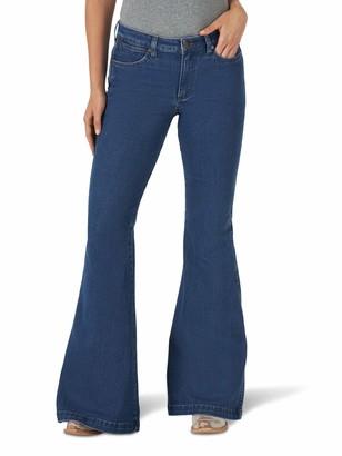 Wrangler Women's Misses Retro Premium High Rise Trumpet Flare Leg Jean