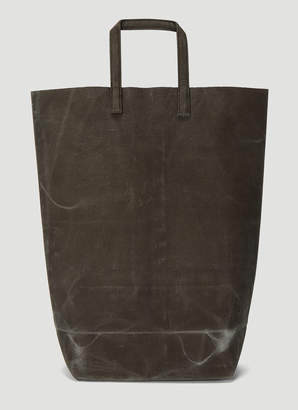 Funagata 005 Waxed Short Handle Bag in Grey