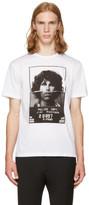 Neil Barrett White 'Jimi Morrison' Hybrid Mugshot T-Shirt