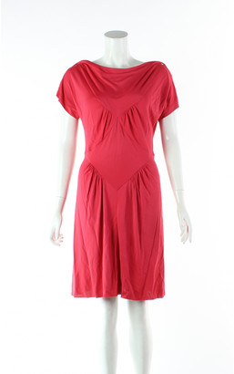 Louis Vuitton Red Viscose Dresses