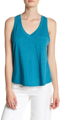 Melrose and Market Double V-Neck Pocket Tank