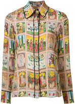 Alice + Olivia Alice+Olivia - multi-print shirt - women - Silk - S