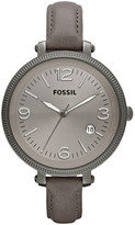 Fossil Heather Leather Watch - Grey
