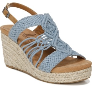 Zodiac Palm Woven Platform Wedge Espadrille Sandals Women's Shoes