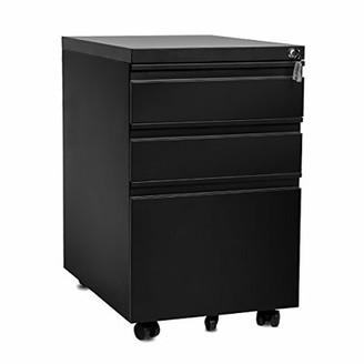 Symple Stuff Willison 3-Drawer Vertical Filing Cabinet Color: Black