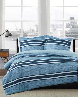 London Fog Mitchell Stripe Duvet Cover Set