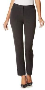 Rafaella Petite Curvy-Fit Gabardine Slim-Leg Pant