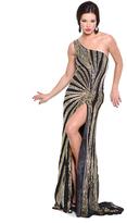 Atria Dresses Atria Clothing - AC230112 Dress in Black and Gold