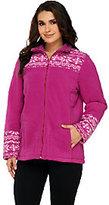 Nordic Denim & Co. Fleece Print Jacket with Sherpa