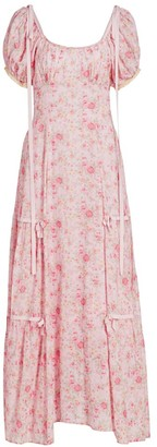 LoveShackFancy Jessie Floral Maxi Dress
