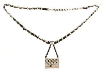 CHANEL Flap Bag Charm Chain Belt Metal and Lambskin 45