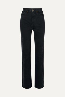 KHAITE Danielle High-rise Straight-leg Jeans - Black