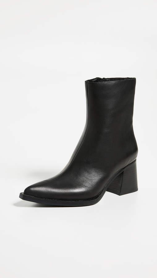 b119197985eb5 Hinge Block Heel Booties
