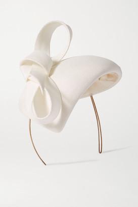 Philip Treacy Bow-detailed Straw Fascinator - White
