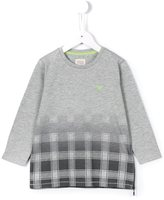 Armani Junior faded check T-shirt