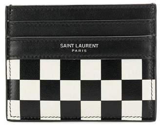 Saint Laurent checkerboard card holder