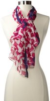 Jonathan Adler Women's Birds Oversized Square Scarf Fuschia