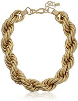 """Robert Lee Morris Rope Chain"""" Gold Collar Necklace, 24"""""""