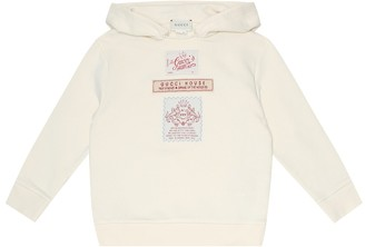 Gucci Kids Label cotton-jersey hoodie