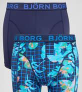 Bjorn Borg 2 Pack Trunks Microfibre Geo Floral Print