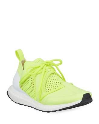 adidas by Stella McCartney Ultraboost Lace-Up Neoprene Running Sneakers, Yellow