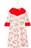 Stella McCartney Bessie swan print dress - kids - Cotton/Spandex/Elastane/Viscose - 4 yrs