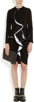 Givenchy Black ruffled-front jersey jacket