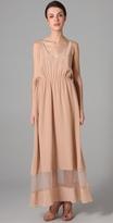 Porter Grey Cutout Long Dress
