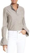 Frame Women's Bell Sleeve Poplin Top