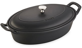 Staub Ceramic 14-Inch Oval Baking Dish with Lid