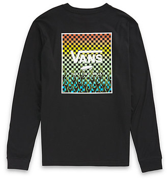 Vans Boys Print Box Back Long Sleeve T-Shirt