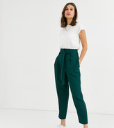 Asos Tall DESIGN Tall tailored tie waist tapered ankle grazer trousers