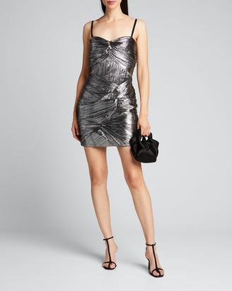 Jonathan Simkhai Frankie Metallic Plisse Cocktail Dress
