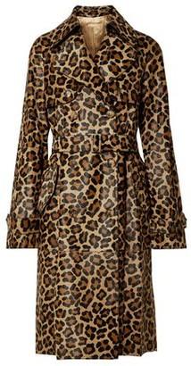 Michael Kors Leopard-print Calf Hair Trench Coat