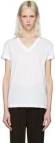 Alexander Wang White V-Neck T-Shirt