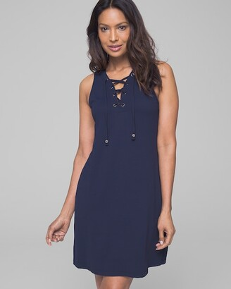 Tommy Bahama Color Block Lace Up Spa Dress