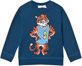 Stella McCartney Blue Tiger Print Biz Sweatshirt