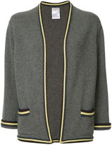 Chanel Pre Owned striped pattern cardigan