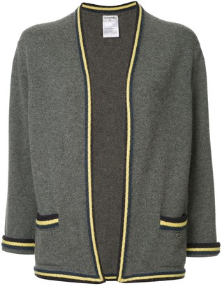 Chanel Pre-Owned striped pattern cardigan