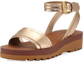 See by Chloe Robin Metallic Leather Flatform Sandal
