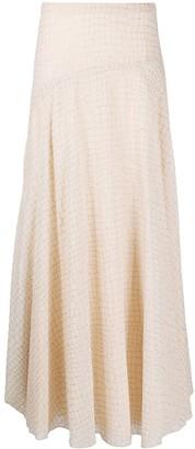 Boutique Moschino Crocodile-Print Maxi Skirt