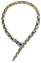 Betsey Johnson Pave Snake Collar Necklace