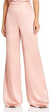 Cushnie Floor-Sweeping Wide-Leg Silk Pants