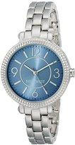 Nine West Women's NW/1697BLSB Blue Sunray Dial Silver-Tone Bracelet Watch