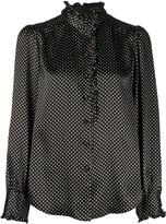Marc Jacobs Polka Dot Print Silk Blouse
