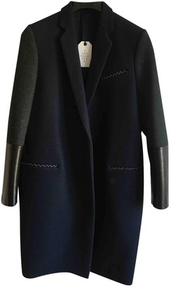Celine Blue Wool Coat for Women