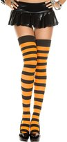 Sky Hosiery Women Wide Stripes Thigh High Stockings