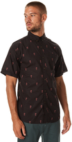 Katin Rosa Woven Ss Mens Shirt Black